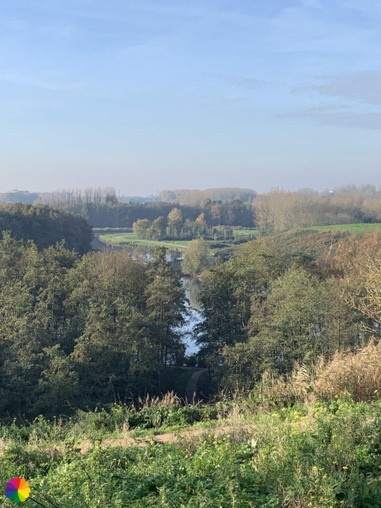 View from the waste hill at the Hoge Bergse woods
