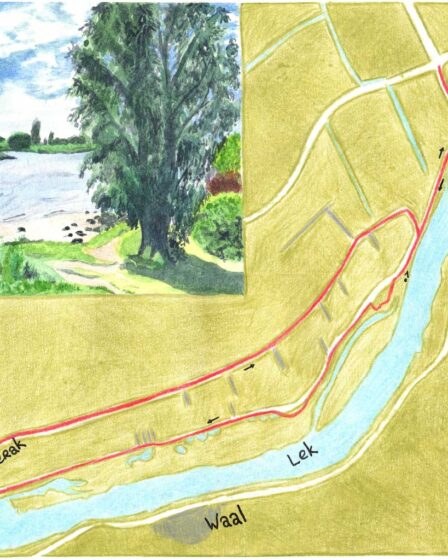 Hiking map Willige Langerak trail