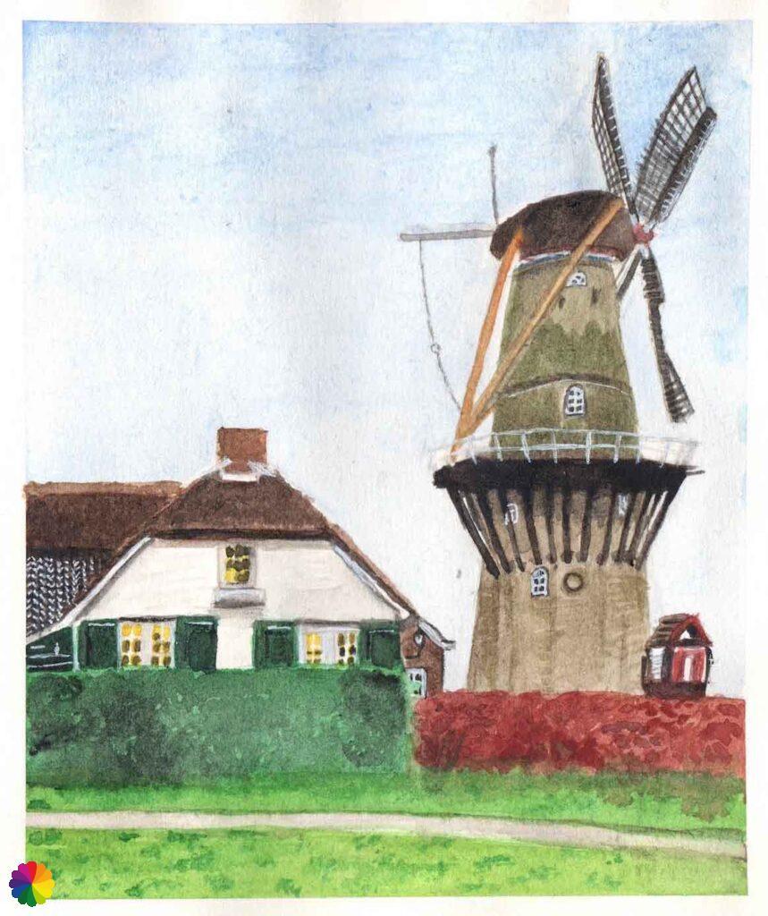 Illustratie molen Den Arend