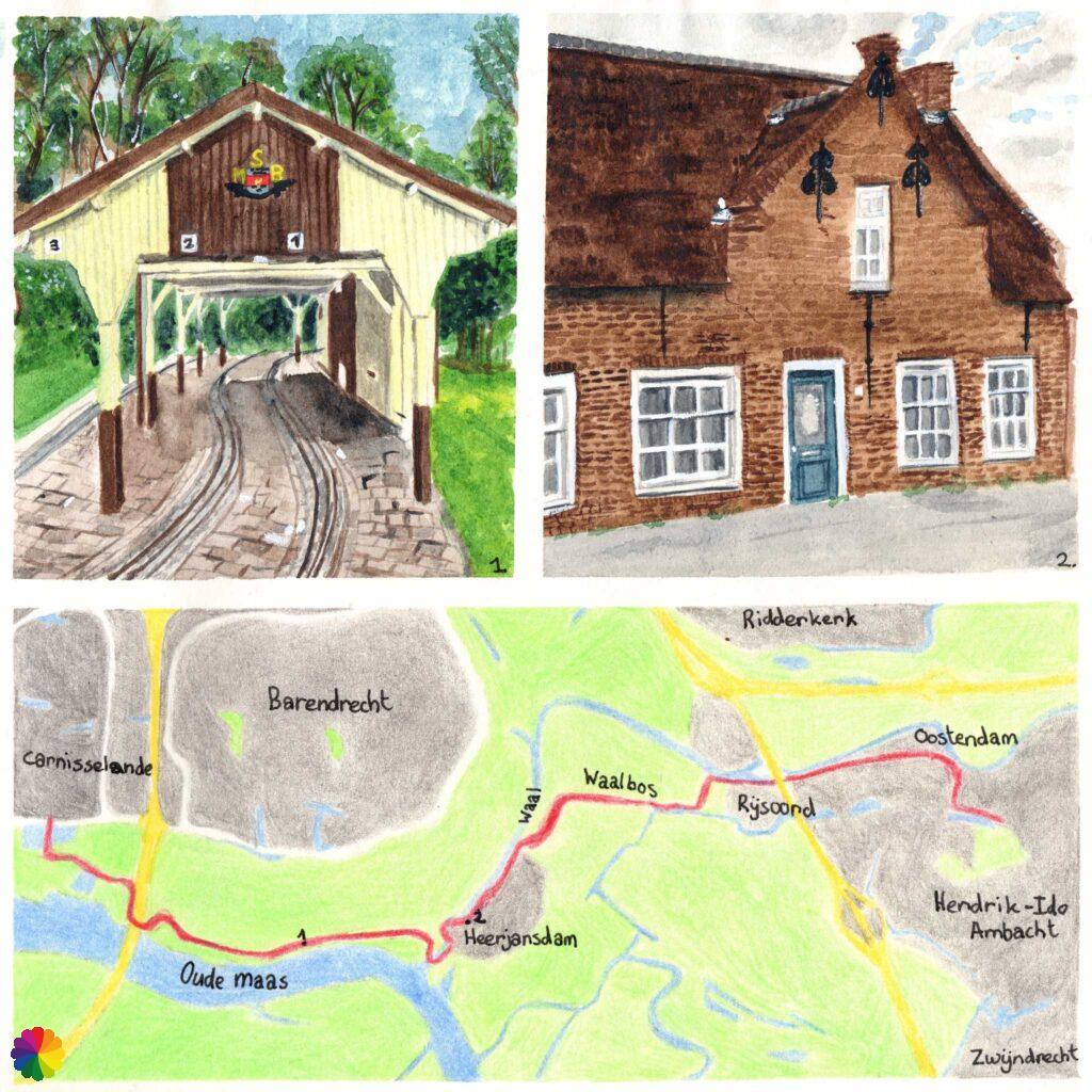 Hiking map Carnisselanden - Hendrik-Ido Ambacht