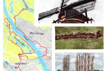 Hiking map Kinderdijk - Hendrik-Ido Ambacht