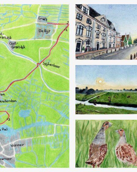 Wandelkaartje Trekvogelpad De Rijp - Wormerveer