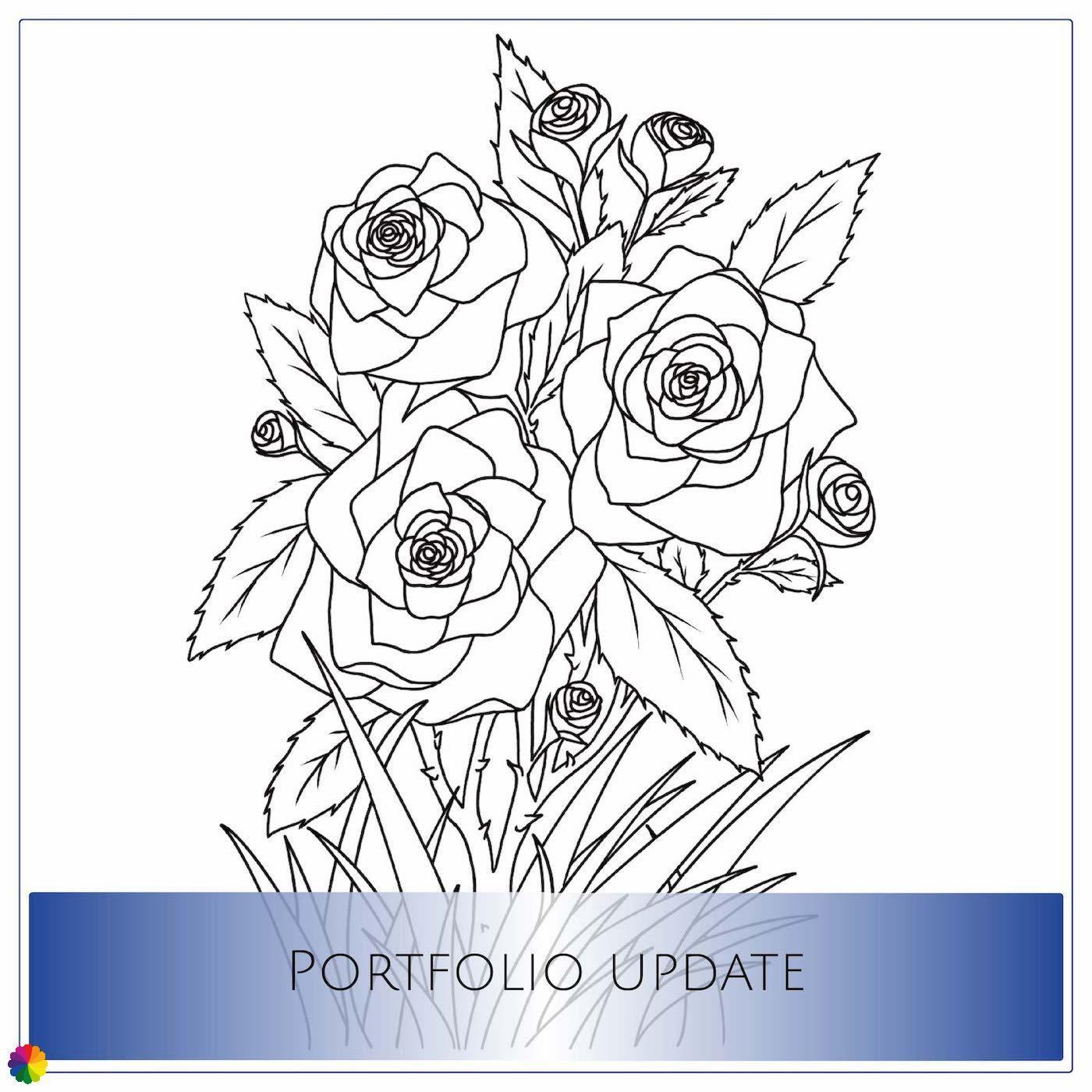 Portfolio-update rozen tattoo-ontwerp