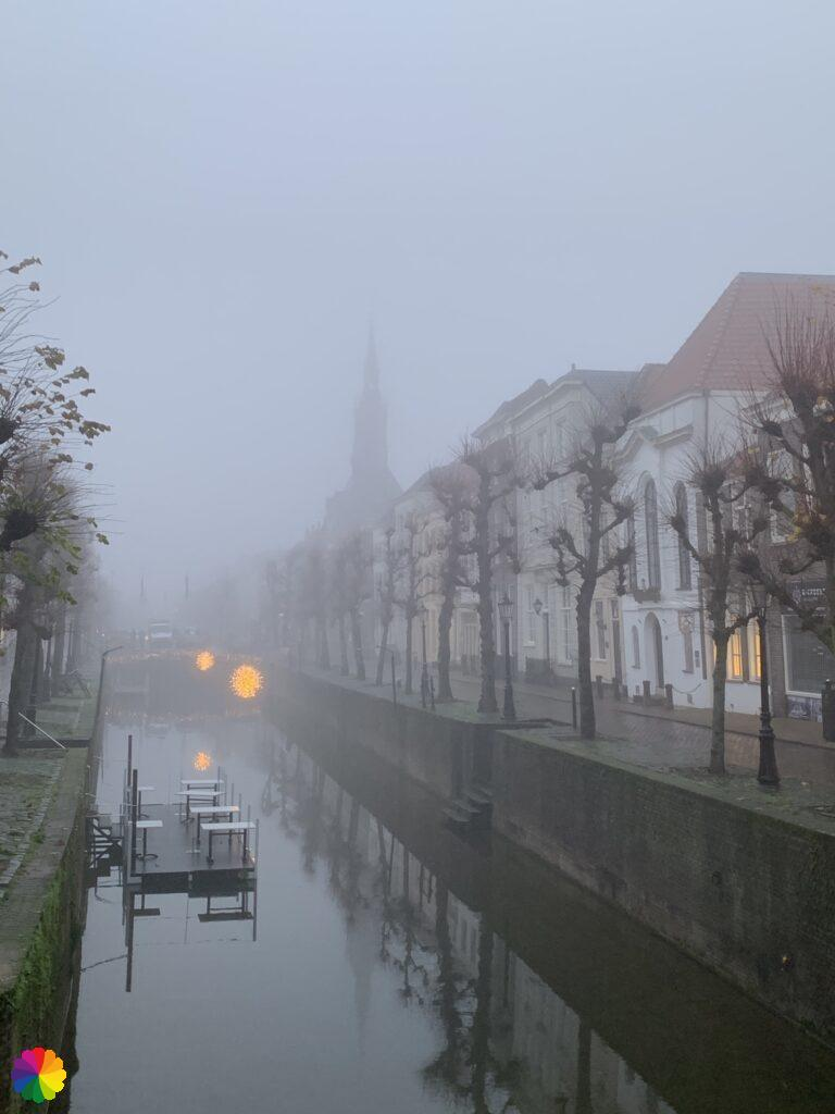 Schoonhoven bij mist