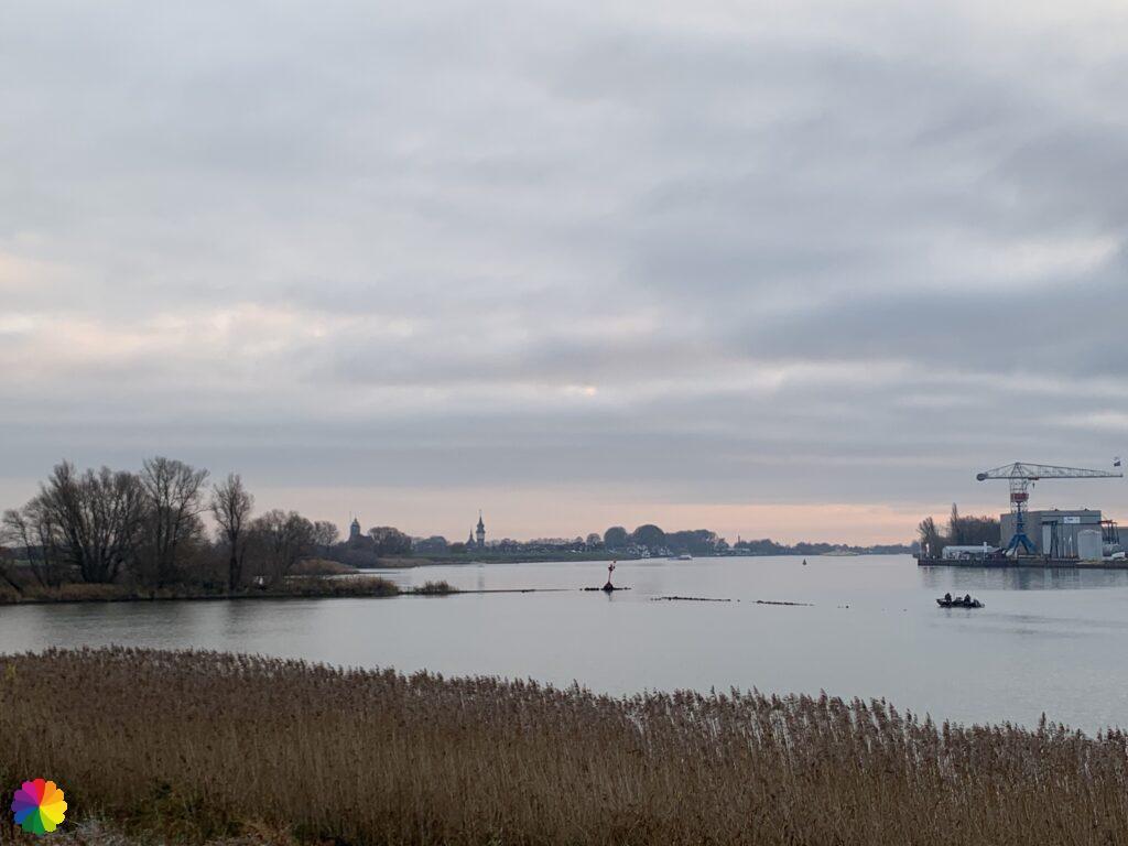 Schoonhoven in the distance