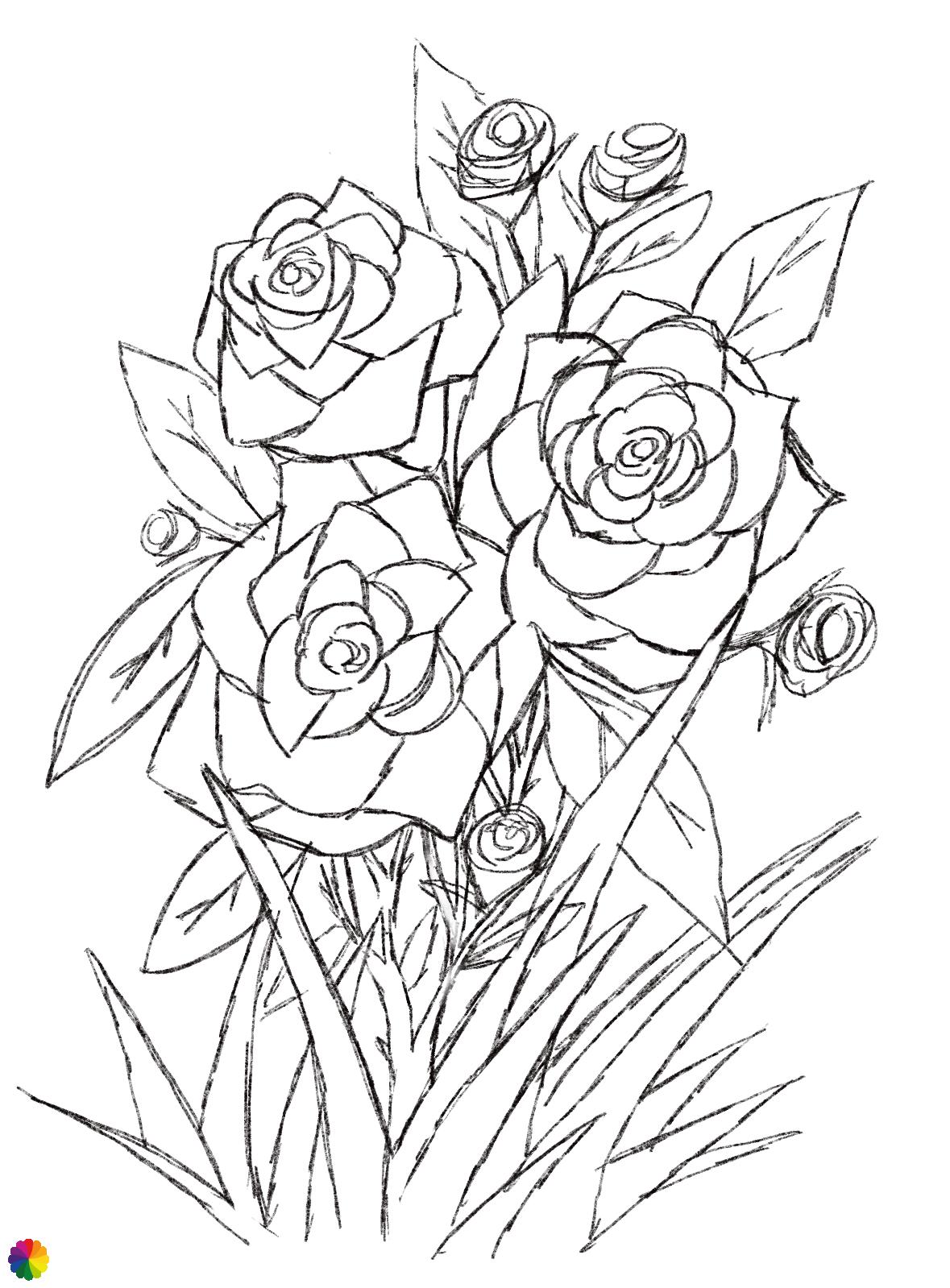 Rozen-tattoo schets