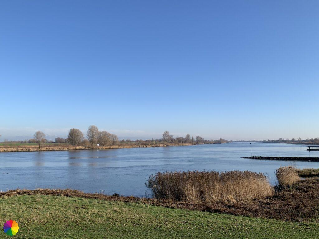 View over the Lek river from Nieuwpoort