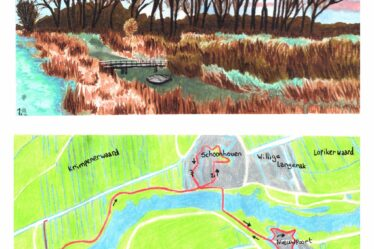 Hiking map Great rivers trail Ammerstol - Nieuwpoort