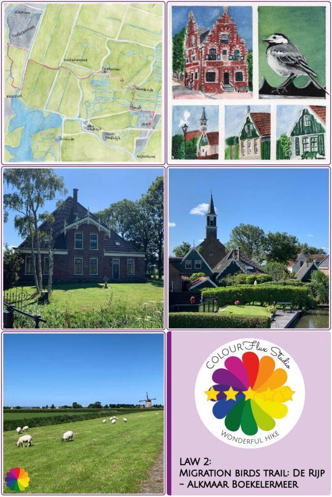 Pin Wonderful hike Migration birds trail De Rijp Alkmaar in the Netherlands